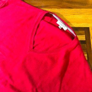 Burberry London mens XL red v-neck sweater EUC